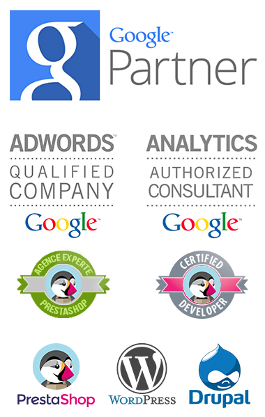 Agence Prestashop, Wordress, Drupal, Google partner
